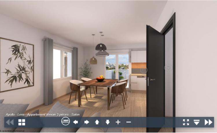 Découvrez la visite virtuelle de votre futur appartement
